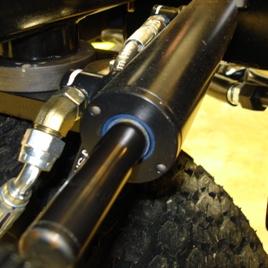 Styrcylindern sedd från änden