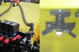 Rinse kit (valve, hose and rinse nozzle)