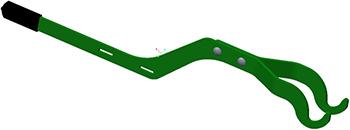 Med en enkel spak trycker man bladfjädern bakåt och lossar kniven