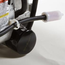 Utbytbart oljefilter och ledningsmonterat bränslefilter
