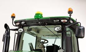Strålkastare för traktor med frontlastare