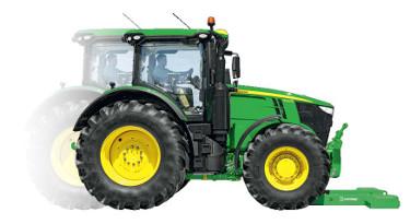 Placera traktorn över vikten
