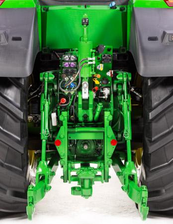 Hydrauloljeflöde med upp 321 liter/minut för de största redskapen