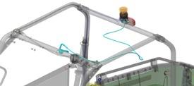 Kablagesats för roterande varningsljus (visas på Gator™ XUV560)