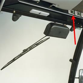 Vippströmbrytare monterad över huvudhöjd