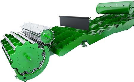 116 derece geniş kontrabatör sarma açısı, 1,8 m²'ye (19,4 ft²) kadar ayırma alanı sağlar