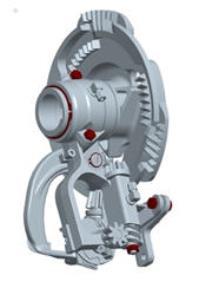 Düğümleyicinin tüm kritik/önemli noktaları merkezi gres sistemine bağlanmıştır