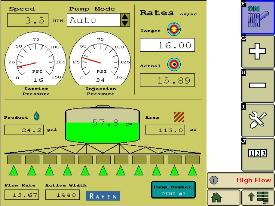 Control de secciones con el controlador de producto ISOBUS de Raven®