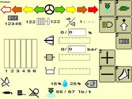 Pantalla con indicaciones de conducción e integración de Harvest Tec