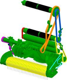 Incluye pocas ruedas dentadas y cadenas para facilitar el mantenimiento