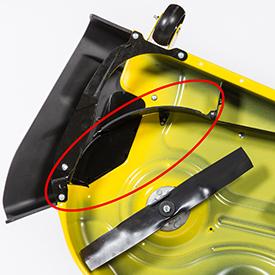 MulchControl con deflector cerrado