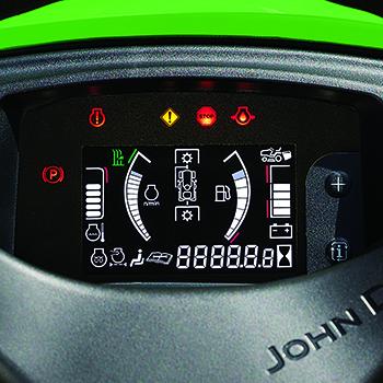 Medidores y luces indicadoras (interruptor encendido para ilustrar las funciones)