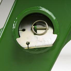 Pies de estacionamiento almacenados en el tubo de torsión