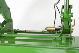 Sistema de retención de cilindro con los pasadores bloqueados