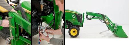 Montaje y desmontaje del tractor sin herramientas