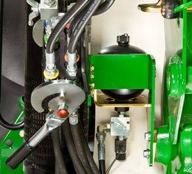 Válvula eléctrica y acumulador cargado con nitrógeno