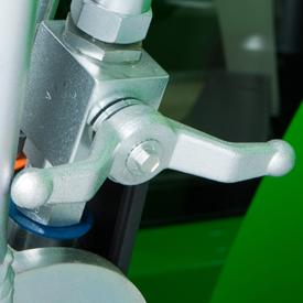 Válvula de cierre hidráulico (posición cerrada)