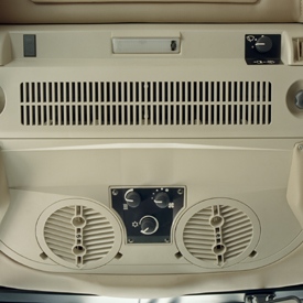 Interior de cabina climatizado