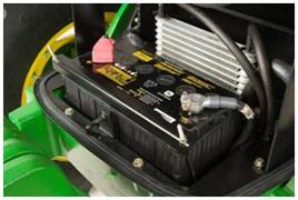 12-V battery (cover off)