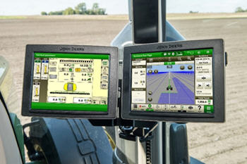 Monitor extendido Gen 4 (izquierdo) y pantalla universal 4640 (derecho)