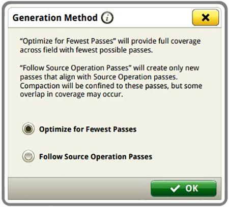 Las opciones de creación de líneas de guiado AutoPath brindan flexibilidad a los operadores