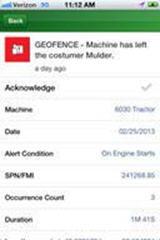 Detalles de alarmas en la aplicación para móviles