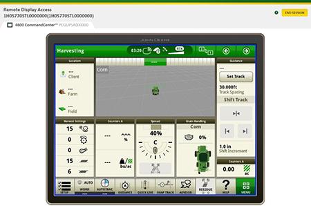 Visualice de forma remota el monitor de una maquinaria para ayudar a operadores en el campo
