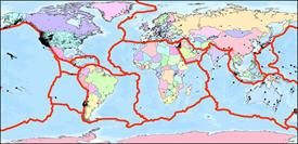 Figura 20: Movimiento de placas tectónicas