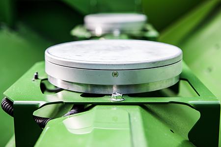 Sensores ActiveYield en el depósito de grano