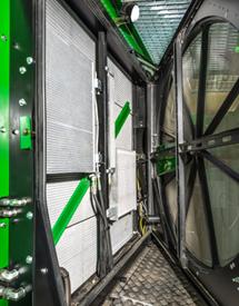 Facilidad de acceso del sistema de refrigeración