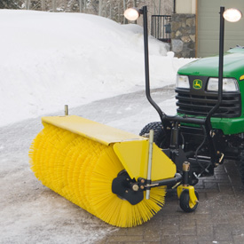 52-in. (132-cm) Rotary Broom on X729 Tractor (shown with optional BM20753 front light kit)