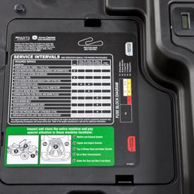 Adhesivo de intervalo de mantenimiento (se muestra la serie Z300)