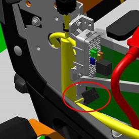 Ilustración de la localización del conector rápido
