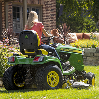 X730 Tractor mowing