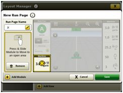 Layout manager module build