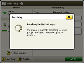 Searching for other work groups