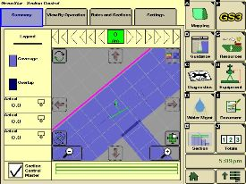 John Deere Section Control on the GreenStar™ 3 2630 Display