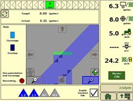 John Deere Section Control activation