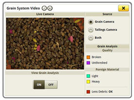 Grain analysis live view