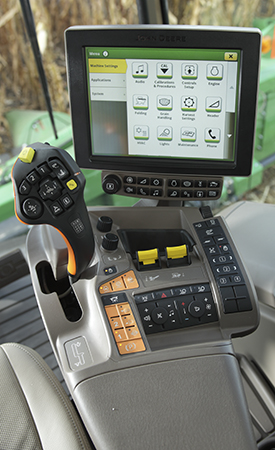 In-cab adjustments with CommandARM console