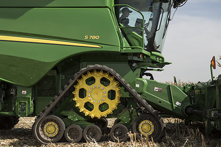 Harvester with tracks