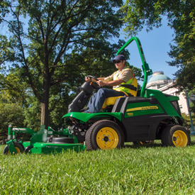 1550 mowing grass