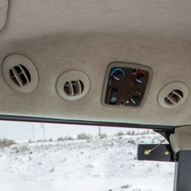 Heater and air conditioning controls and vents