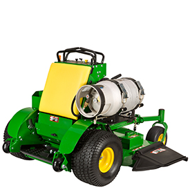 Single propane tank shown on QuikTrak Mower