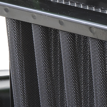 Close-up of radiator debris screen