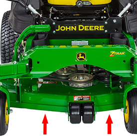 Mower rectangular leading-edge reinforcement