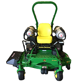 Propane conversion kit on a ZTrak Mower