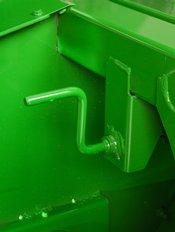 Impeller hood crank handle