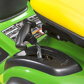 Mower deck height adjustment lever