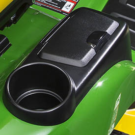 Beverage holder (shown with optional storage compartment cover)